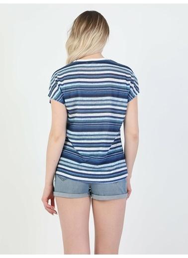 Colin's Kadın Kısa Kol Tişört Lacivert